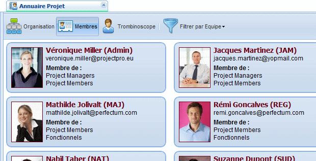 Organisez les membres et les équipes de vos projets